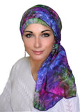 Magical Garden Turban, Head Wrap, Alopecia Scarf, Chemo Hat & Scarf Set - Sacko Boutique  - 1