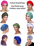 Black Gold Turban Head Wrap (1 Piece) - Sacko Boutique  - 2