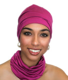 Ladies' Beanie Hat Fuchsia Hot Pink - Sacko Boutique  - 4