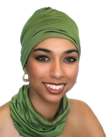 Ladies' Beanie and Headband Set Olive Green - Sacko Boutique  - 1