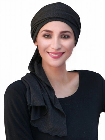 Black Gold Turban Head Wrap (1 Piece) - Sacko Boutique  - 1