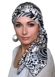 Safari Jersey Turban, Head Wrap, Alopecia Scarf, Chemo Hat & Scarf Set - Sacko Boutique  - 1