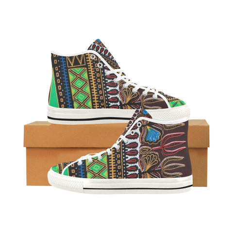 Africa print Vancouver H Men's Canvas Shoes