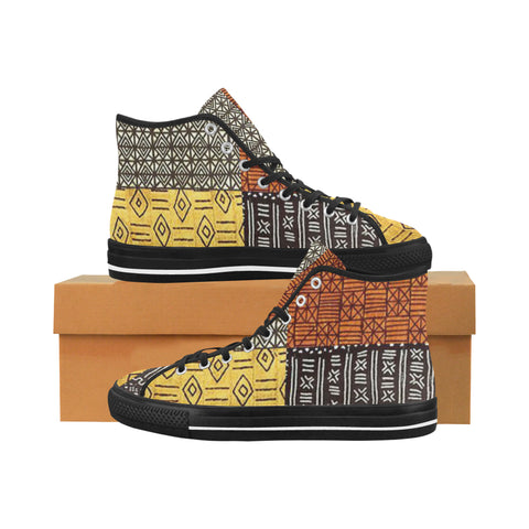 Africa Pattern Men's Canvas Shoes