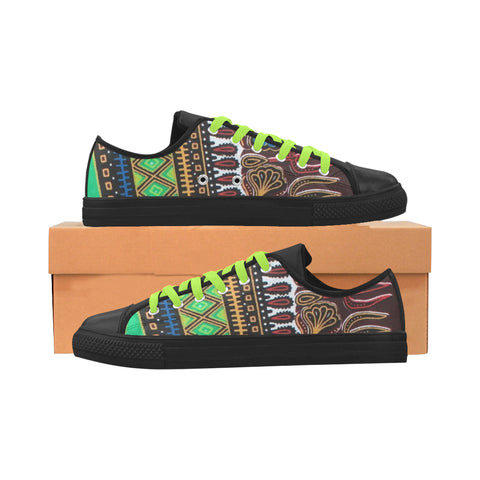 Africa Print Women Leather Women's Shoes