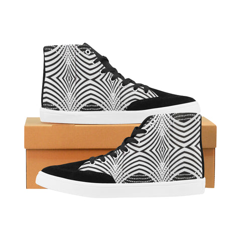 Ankara Print High Top Shoes for Women