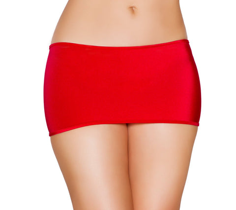 "7 1/2"" in Length Lycra Mini Skirt"