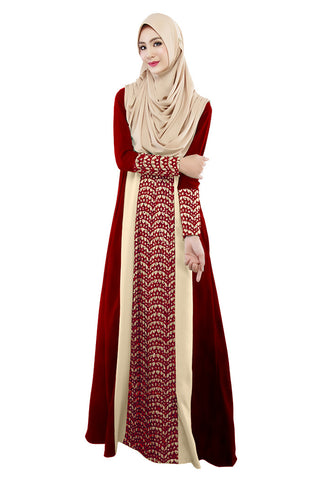 2017 Muslim Womens Abaya Dress O-Neck Long Sleeve Floor Length Loose