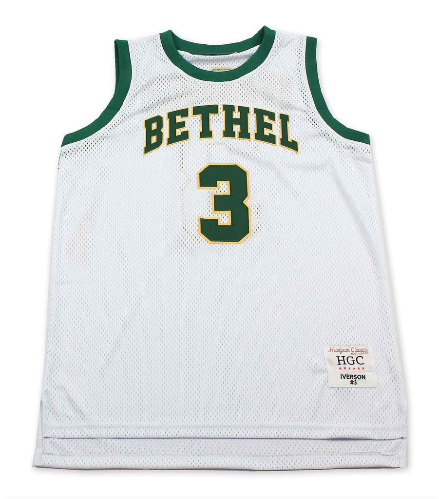 Allen Iverson Bethel High School All White Basketball Jersey - shopallstarsports.com