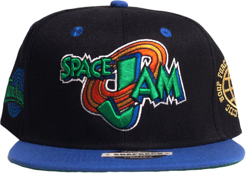 SPACE JAM TUNESQUAD BLACK AND BLUE SNAPBACK HAT