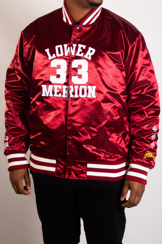 KOBE BRYANT MAROON HIGH SCHOOL BASKETBALL SATIN JACKET