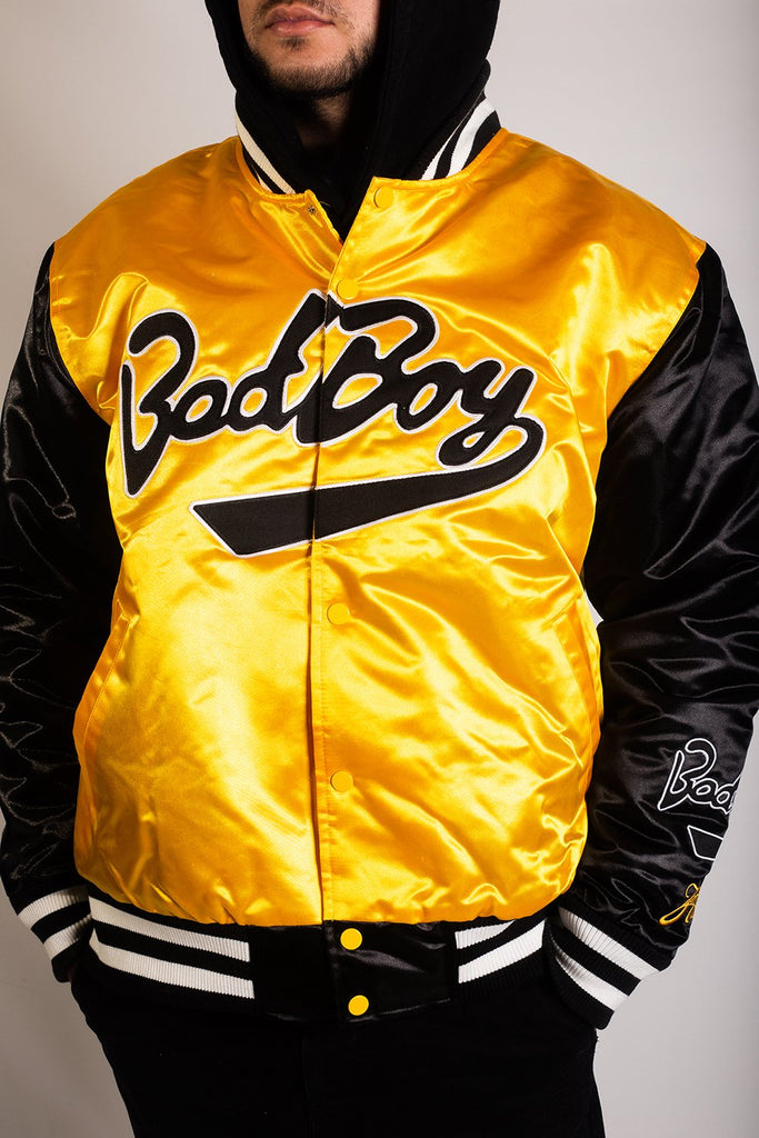 BAD BOY YELLOW SATIN JACKET