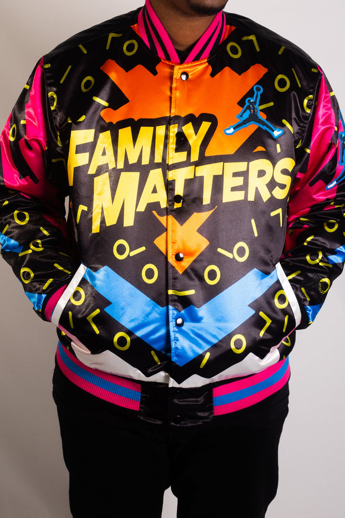 FAMILY MATTERS SATIN JACKET
