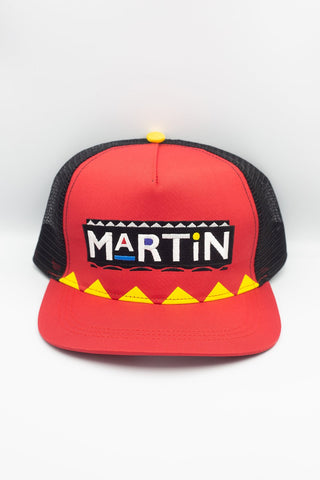 RED MARTIN TRIBAL TRUCKER HAT