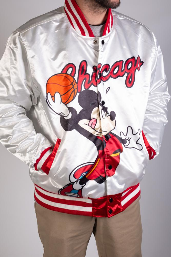 MICKEY MOUSE WHITE SATIN JACKET
