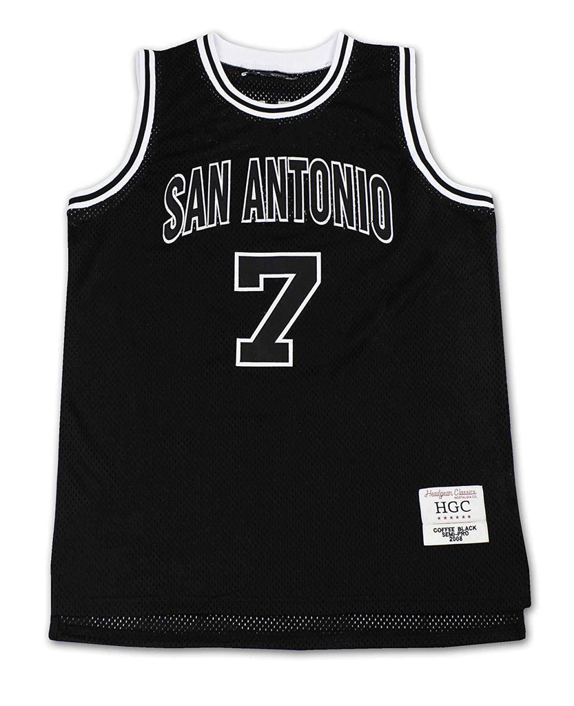 HeadGear Semi-Pro Coffee Black San Antonio Basketball Jersey - Headgear