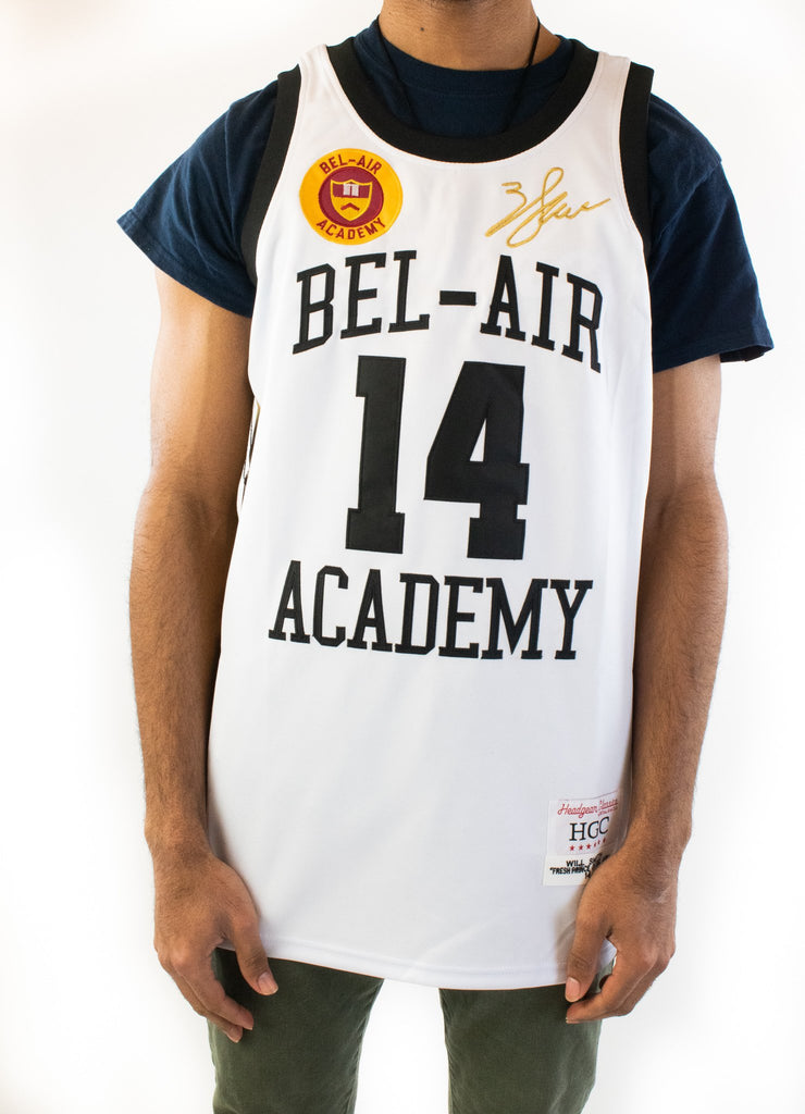 The Fresh Prince of Bel-Air Will Smith White Basketball Jersey - shopallstarsports.com