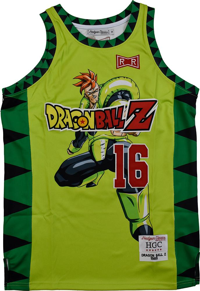 DBZ ANDROID 16 GREEN BASKETBALL JERSEY