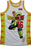 DBZ ANDROID 16 WHITE BASKETBALL JERSEY