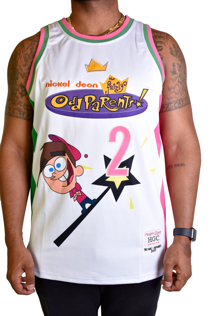 FAIRLY ODDPARENTS WHITE BASKETBALL JERSEY