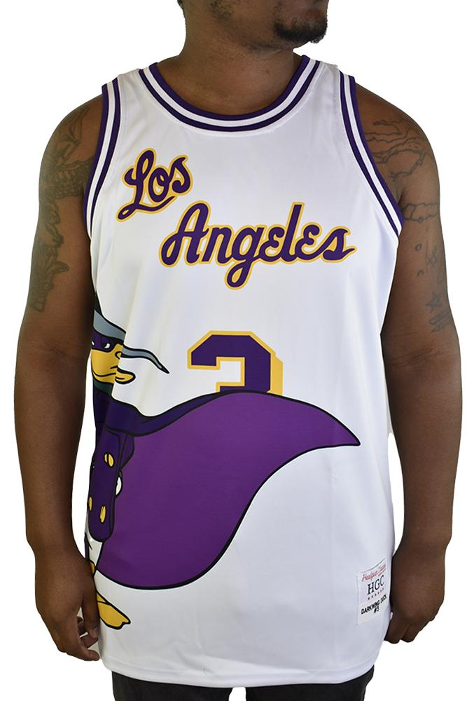 DARKWING DUCK LA WHITE BASKETBALL JERSEY