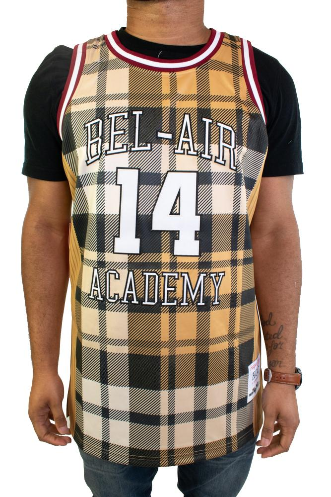 Bel-Air Academy Will Smith Plaid Basketball Jersey