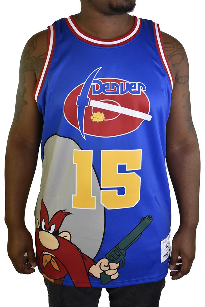 YOSEMITE SAM DENVER BLUE BASEBALL JERSEY