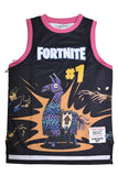 FORTNITE PINK/BLACK YOUTH BASKETBALL JERSEY
