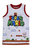 SUPER MARIO BROS.YOUTH WHITE BASKETBALL JERSEY