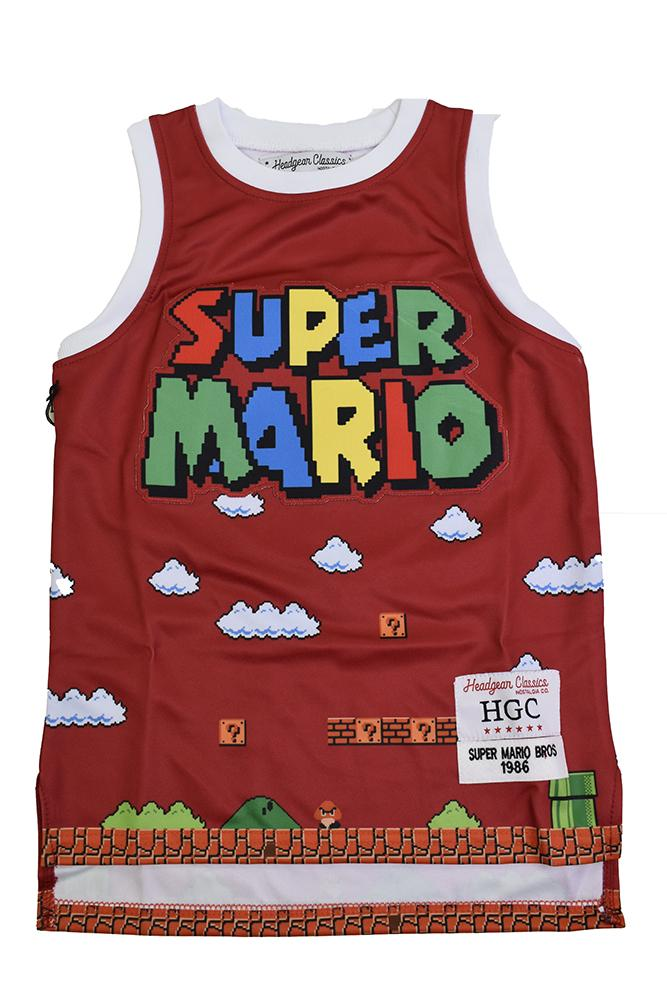 SUPER MARIO BROS. RED YOUTH BASKETBALL JERSEY