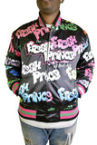 FRESH PRINCE GRAFFITI BLACK SATIN JACKET