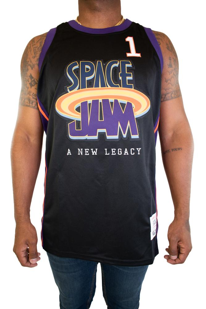SPACE JAM NEW LEGACY BUGS BUNNY BLACK BASKETBALL JERSEY