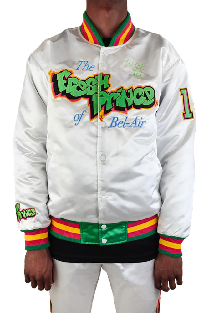 White Fresh Prince Satin Jacket - shopallstarsports.com