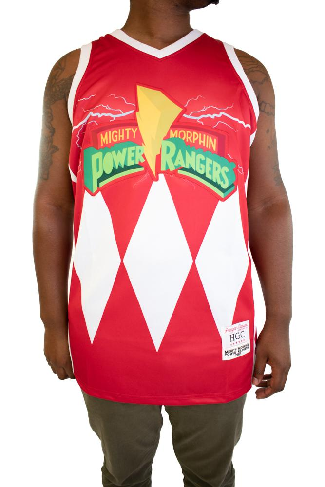 MIGHTY MORPHIN RED RANGER BASKETBALL JERSEY