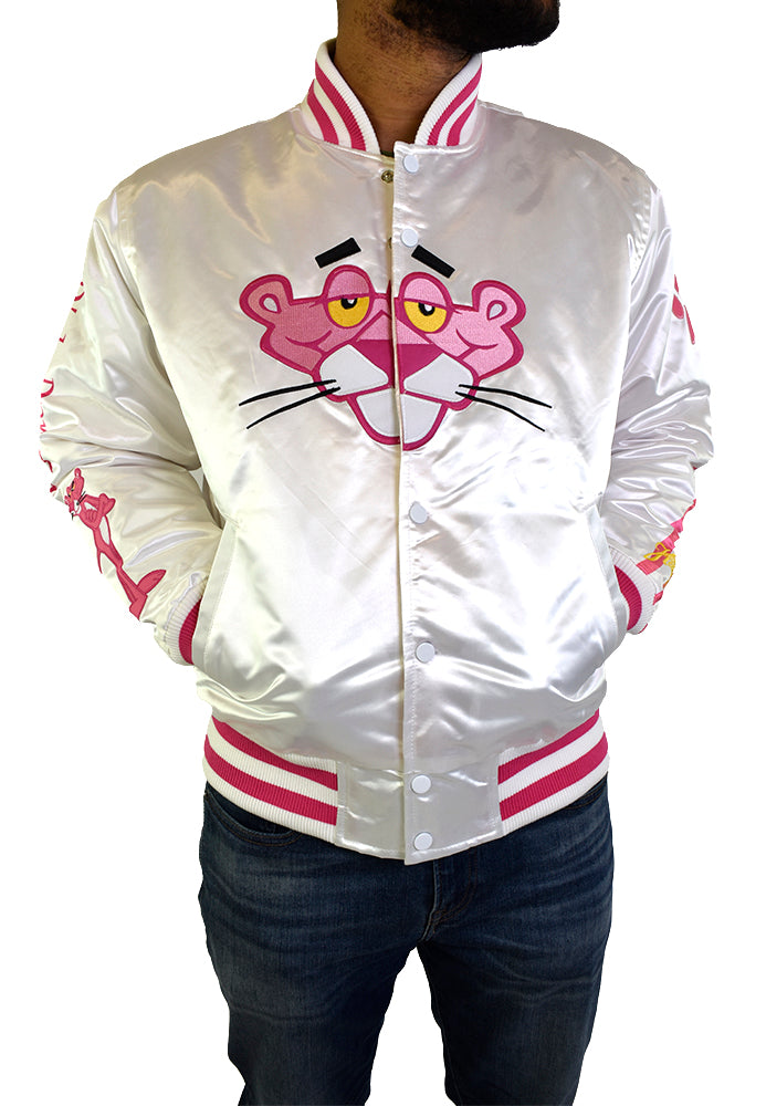 PINK PANTHER WHITE SATIN JACKET