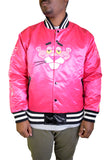 PINK PANTHER HEAD PINK SATIN JACKET