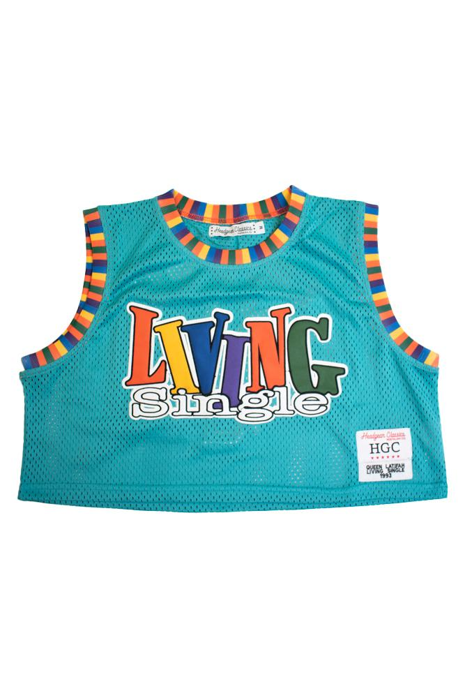 LIVING SINGLE QUEEN LATIFAH CROPTOP BASKETBALL JERSEY