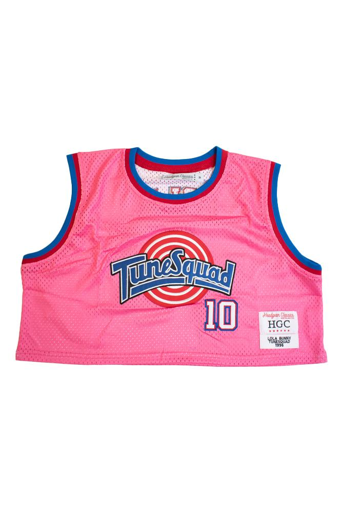 TUNESQUAD LOLA BUNNY PINK CROPTOP BASKETBALL JERSEY