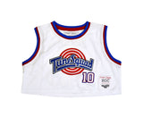 TUNESQUAD LOLA BUNNY WHITE CROPTOP BASKETBALL JERSEY