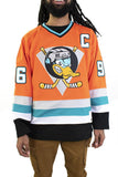 Orange Mighty Ducks Charlie Conway Hockey Jersey