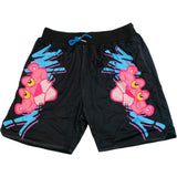 PINK PANTHER BLACK BASKETBALL SHORTS