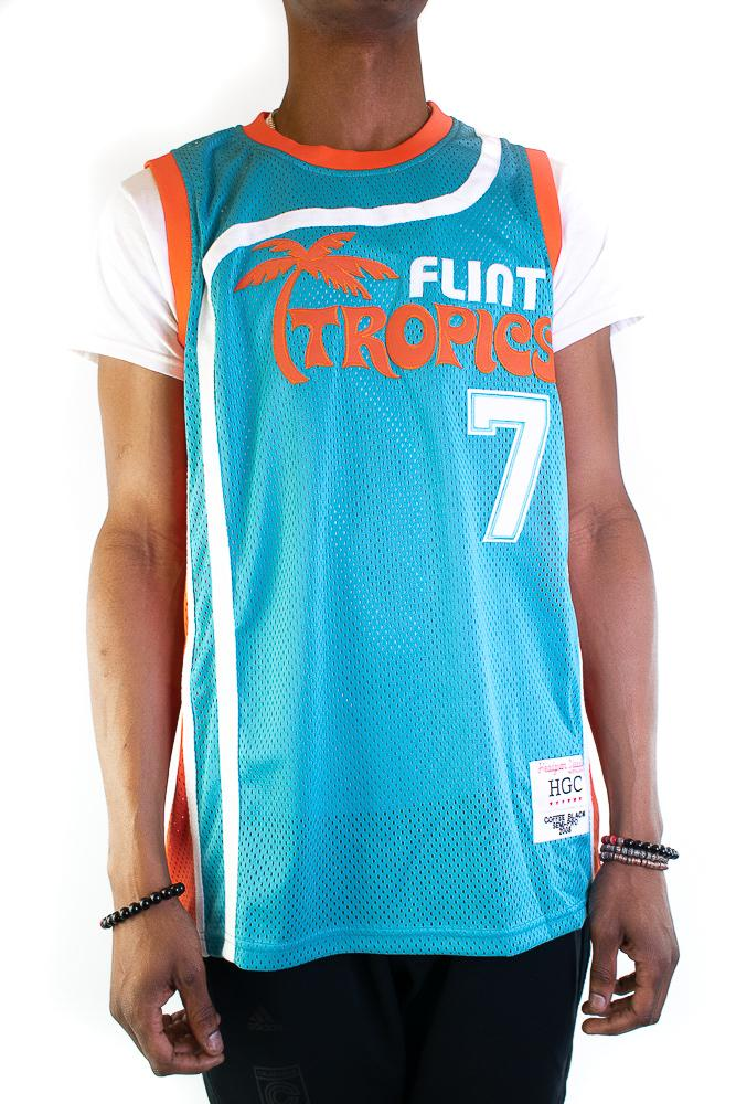 Coffee Black Flint Tropics Basketball Jersey - shopallstarsports.com