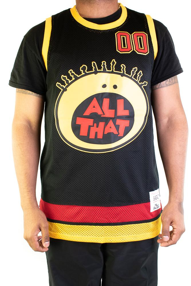 All That Kel Mitchell Black Youth Basketball Jersey - shopallstarsports.com