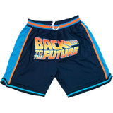BLUE BACK TO THE FUTURE BASKETBALL SHORTS
