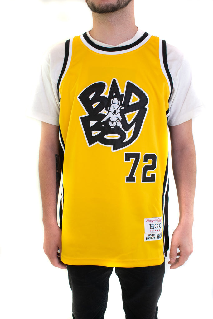 Yellow Biggie Smalls Alternate Basketball Jersey