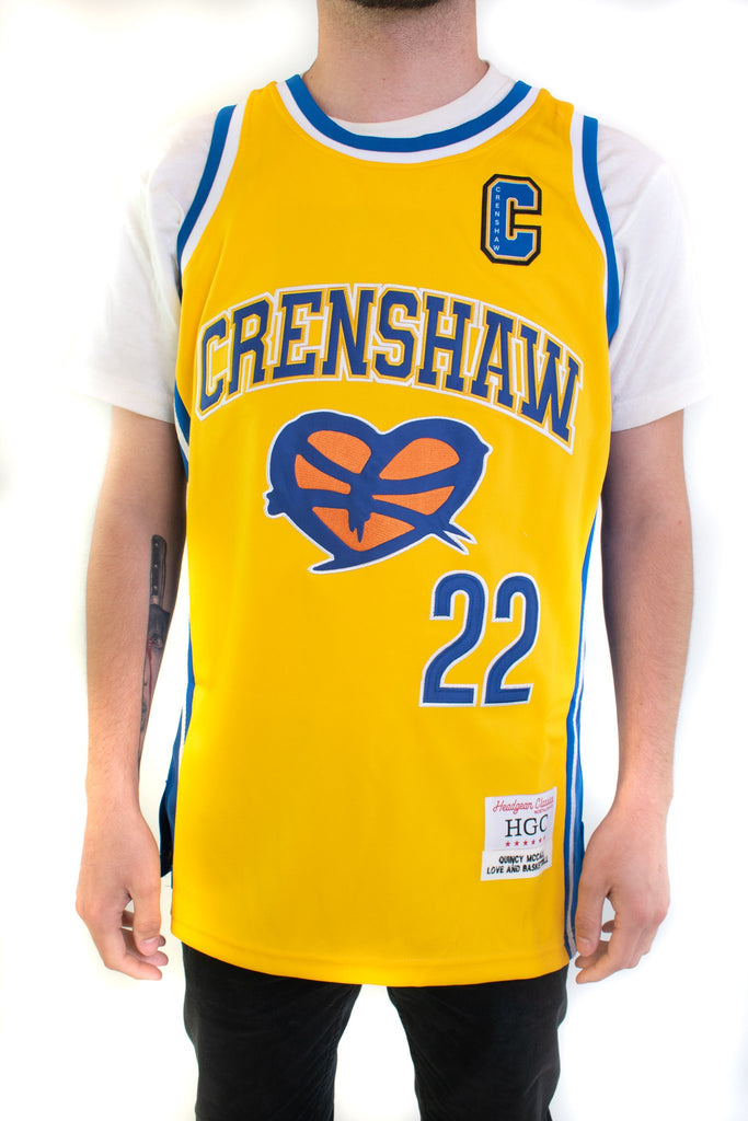 Yellow Love and Basketball McCall Basketball Jersey