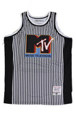 MTV STRIPED BASKETBALL JERSEY