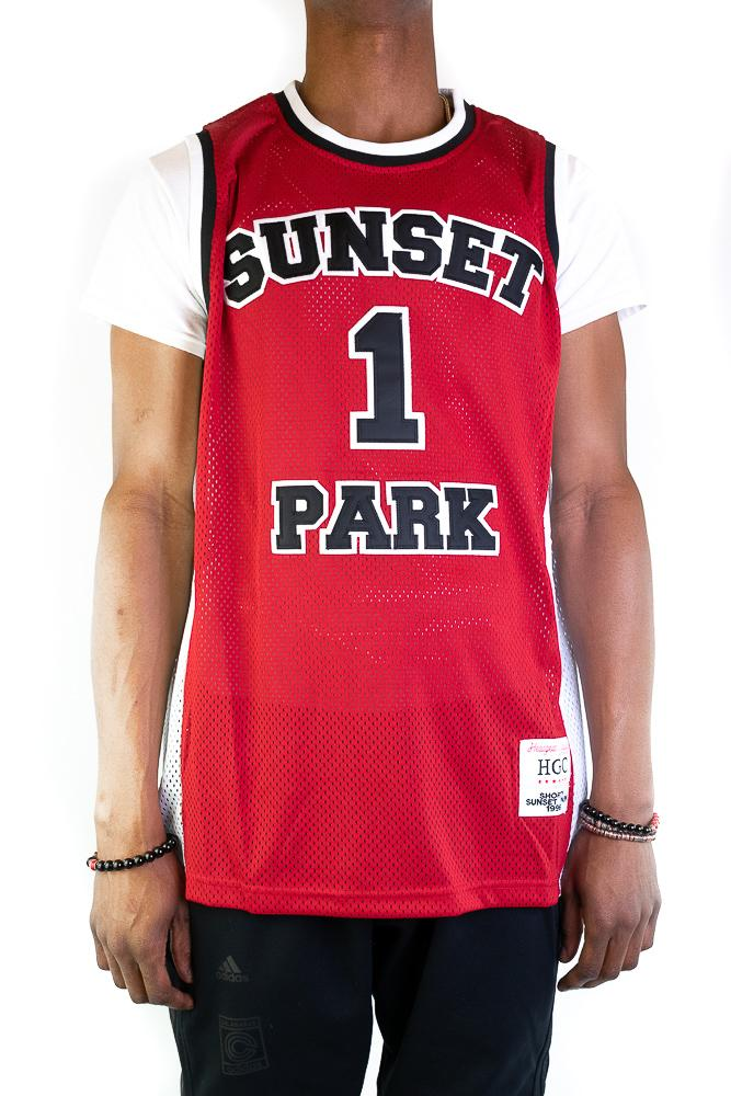 Sunset Park Red Basketball Jersey - shopallstarsports.com
