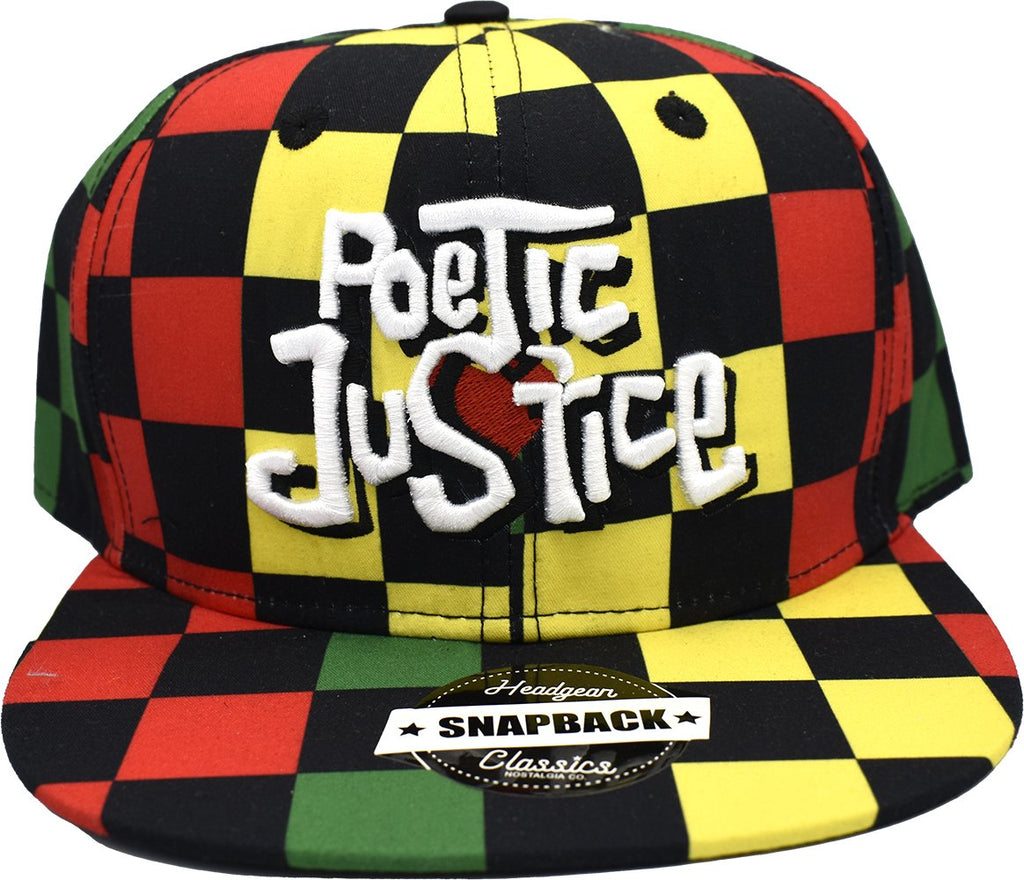 POETIC JUSTICE CHECHED MULTI SNAPBACK