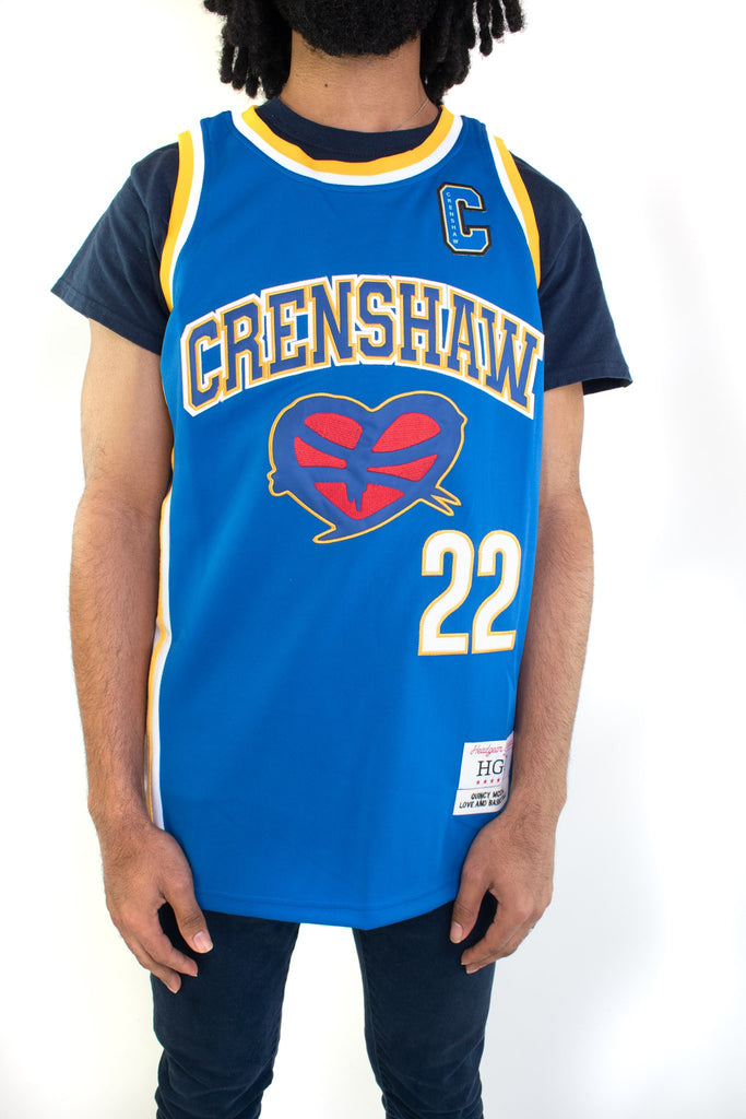 Blue Love and Basketball McCall Basketball Jersey